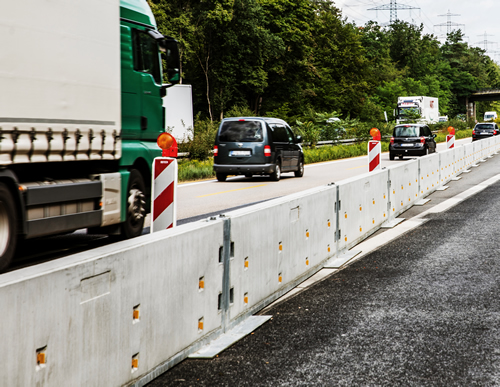 Mobile road barrier IBOWand 850-30