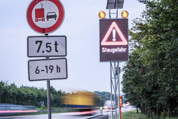Mobile dynamic LED traffic signs