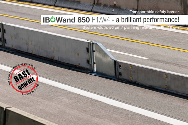 Mobile road barrier H1 W4