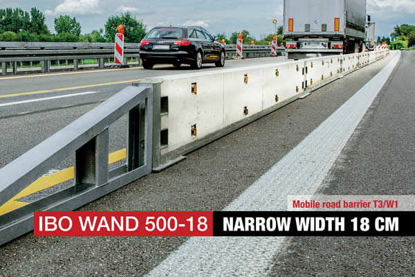Mobile road barrier T3 W1
